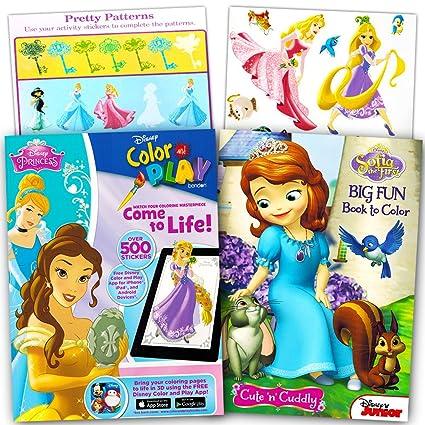 Amazon.com: Disney Princess Ultimate Coloring Book and Sticker Set ...