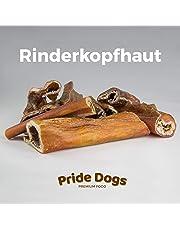 PrideDogs Rinderkopfhaut für Hunde Rinderdörrfleisch Trainingshappen 100% deutsche Herkunft