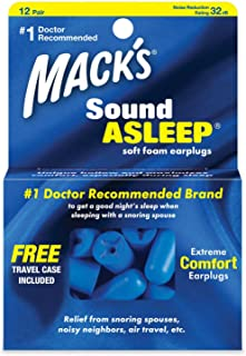 product image for Mack's Sound Asleep Ear Plugs - 12-pair Box Pack of 3