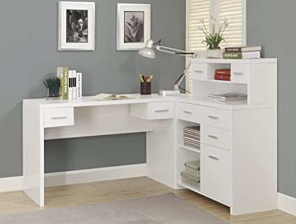 Ordinaire Monarch Hollow Core L Shaped Home Office Desk, White