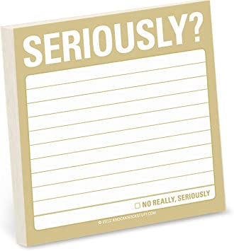 3 x 3-inches Each to Do List Notepads 1-Count Knock Knock to Do Sticky Notes
