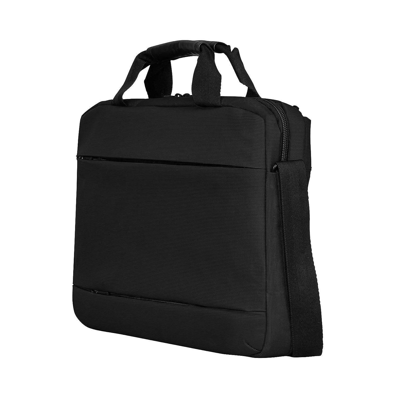 compartiment pour ordinateur portable rembourr/é avec iPad//tablette eReader de poche en noir Wenger 601079 FORMAT 14 Laptop Slimcase 5 Litres