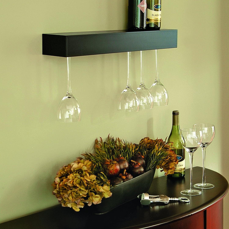 Amazon.com: Kiera Grace Pinot Series Shelf with Wine Glass Rack ...
