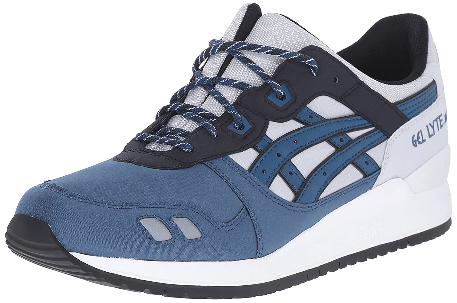ASICS Men's GEL-Lyte III Retro Sneaker B00ZQ9RCKG 7 M US|Soft Grey/Dragon Fly