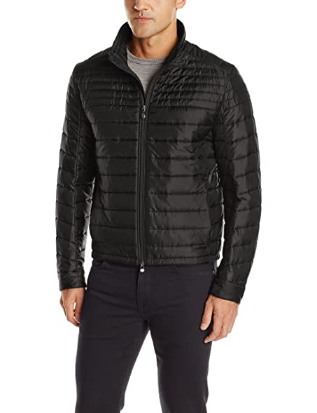 Amazon.com: BOSS Green Men's Jeon Quilted Jacket, Black, 36R: Clothing