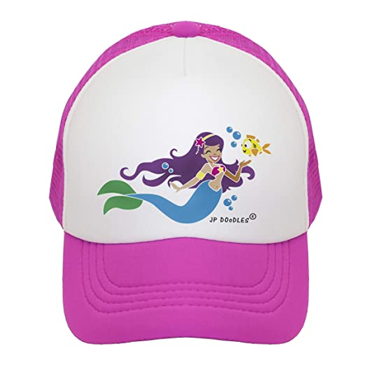 33055070379 Amazon.com  JP DOoDLES Mermaid on Kids Trucker Hat. Kids Baseball Cap is  Available in Baby