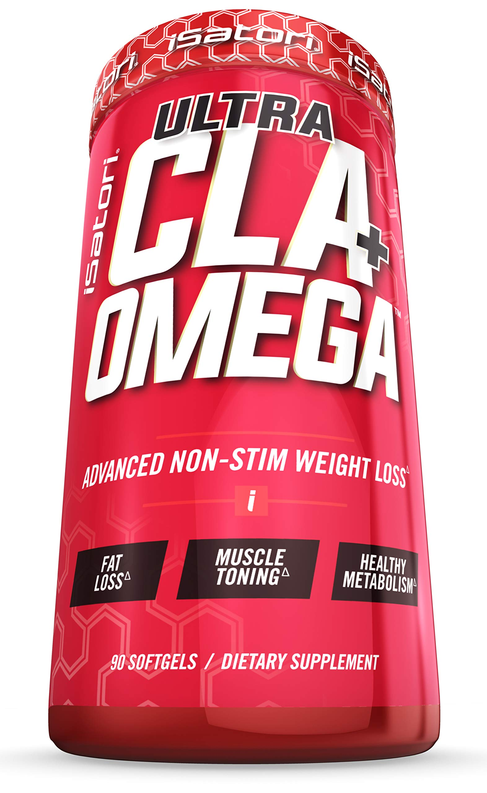 iSatori Ultra CLA Dietary Supplement with Omega For Weight Loss Advanced Non-Stimulant Formula With CLA from Safflower Oil & Omega Fatty Acids from Fish Oil - Fat Burner & Muscle Toner - 90 Softgels