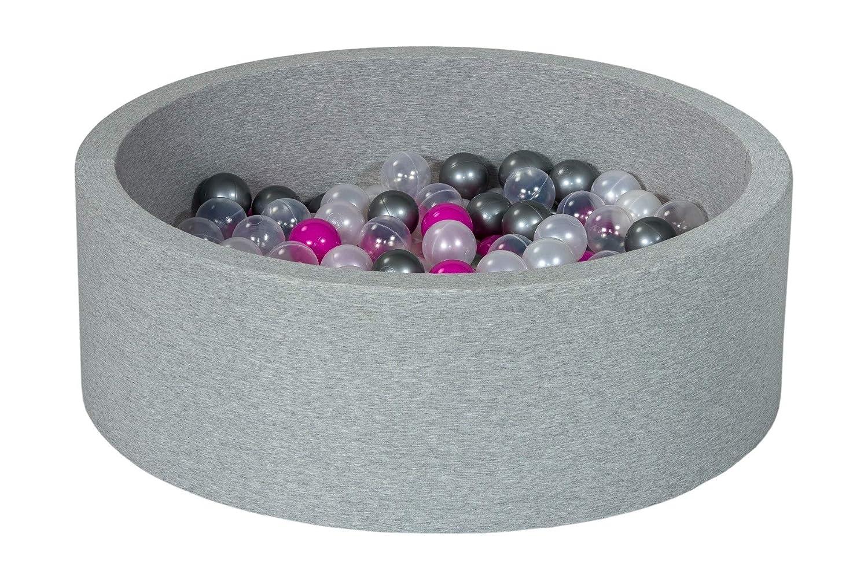 Velinda Soft Jersey Baby Kids Children Ball Pit with 150 balls Balls colours: black, white, blue, grey Gift