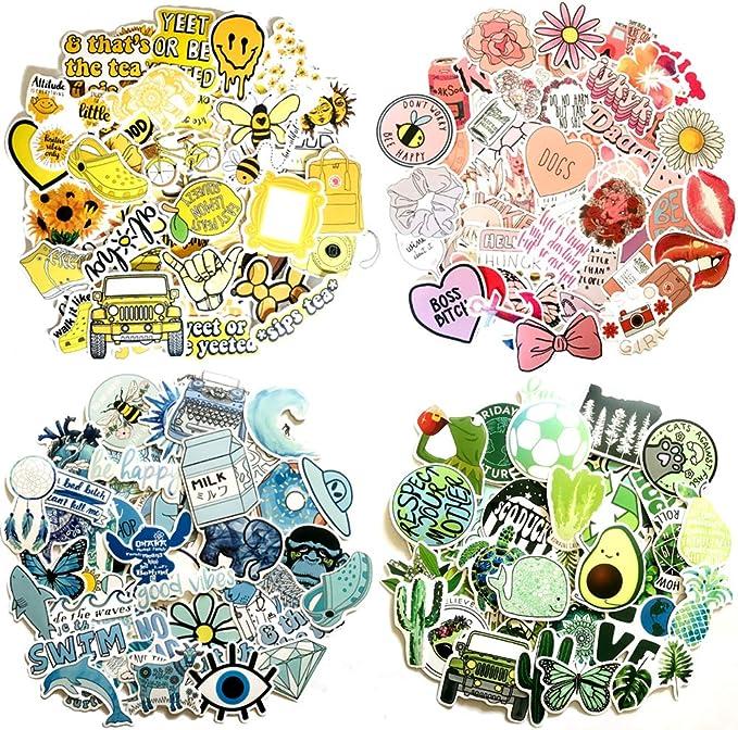 Taimeimao 200 Stück Kinder Aufkleber Dekorative Aufkleber Kofferaufkleber Laptop Zufällige Aufkleber Pack Aufkleber Für Wasserflaschen Wasserdicht Vinyl Stickers Decals Vinyl Graffiti Aufkleber A Spielzeug