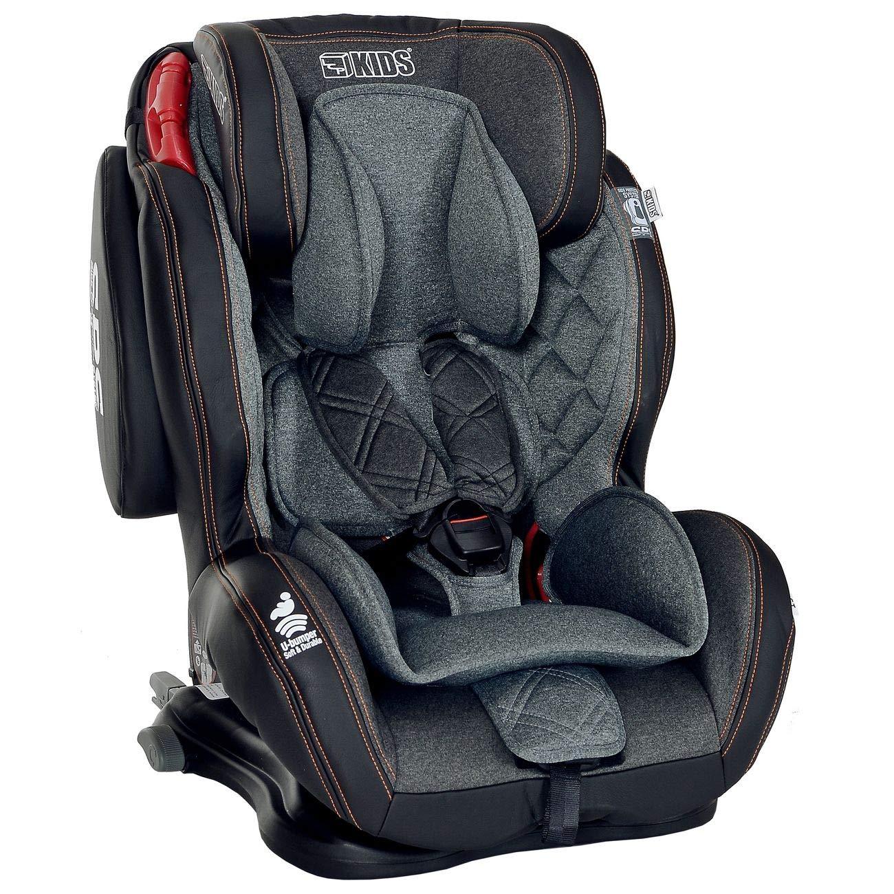 LCP Kids Autokindersitz Isofix 9-36 kg GT Comfort Gruppe 1 2 3 - schwarz 1052