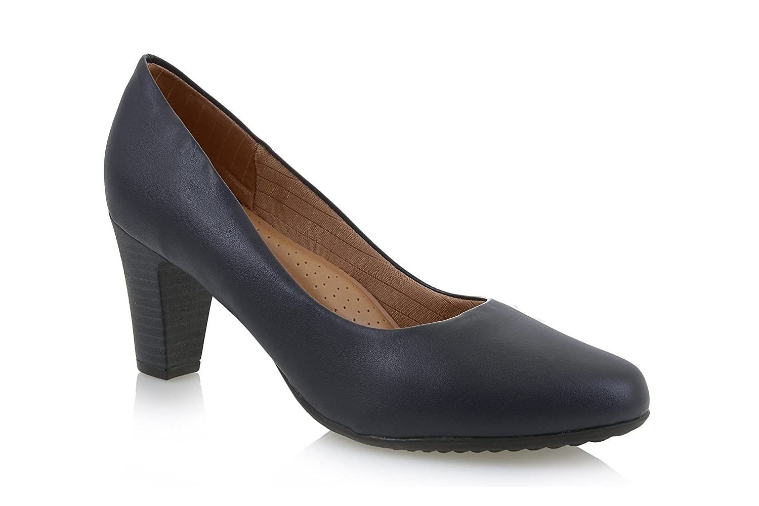 Piccadilly High Heel 130136 Navy Court Shoe/Crew shoes: Amazon.co.uk: Shoes  & Bags