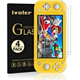 [4 Pack] Screen Protector Tempered Glass for Nintendo Switch Lite, iVoler Transparent HD,High Definition,Clear Anti-Scratch w