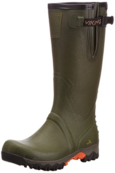 Viking Force II, Unisex-Erwachsene Langschaft Gummistiefel, Grün (Green 4), 46 EU