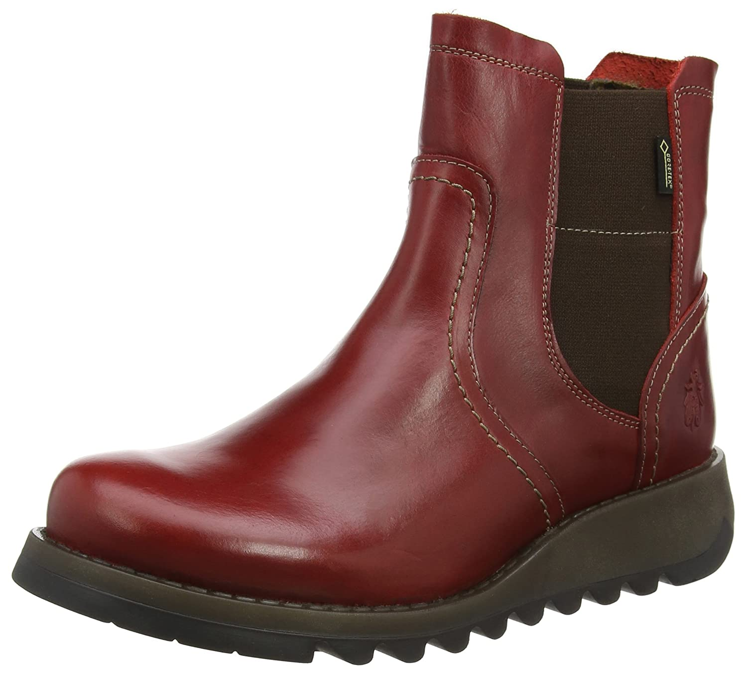 FLY London Women's Scon058fly Chelsea Boot B06X9NMVGM 36 M EU (5.5-6 US)|Red Rug
