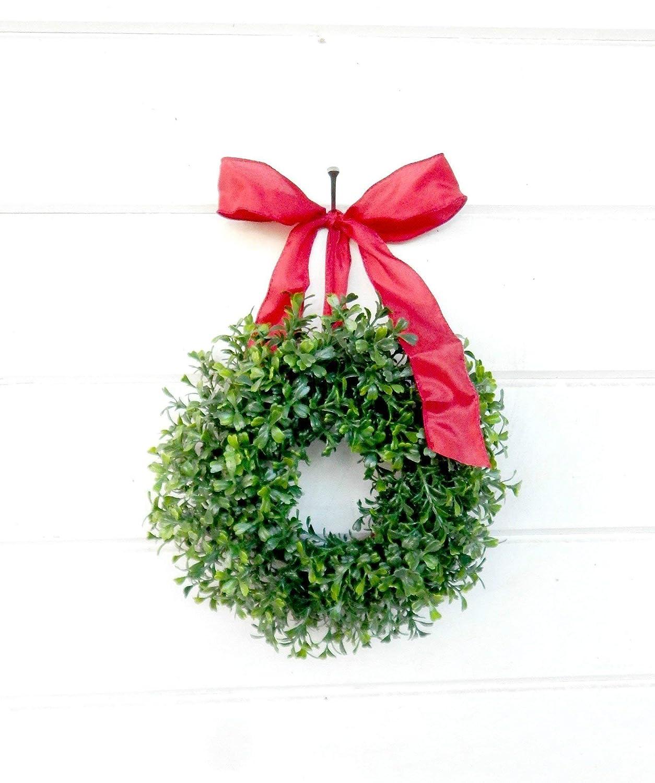 Small Christmas Wreaths.Mini Window Wreath Mini Boxwood Wreath Christmas Wreath Holiday Wreath Farmhouse Wreath Kitchen Decor Farmhouse Decor Scented Wreath Small