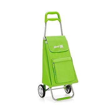 Gimi Argo - Carrito de compra con 2 ruedas, Verde, 37 x 33 x 95.5 cm: Amazon.es: Hogar