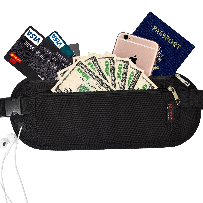 Amazon.com : RFID Blocking Money Belt Hidden for Travel, Mebarra ...