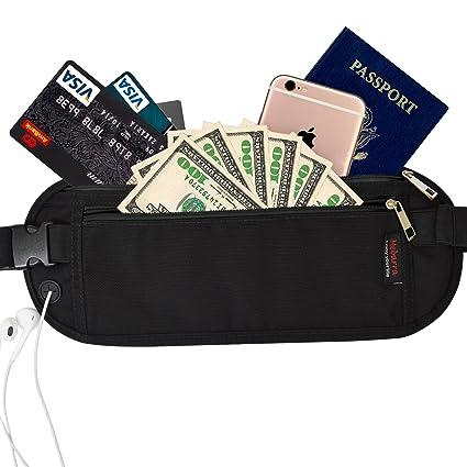 c078b8033aa9 Mebarra RFID Blocking Money Belt Hidden for Travel, Waist Packs Under  Clothing, Passport Holder fot Women, Men