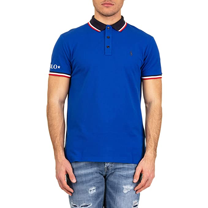 Polo Polo Ralph Lauren Sleeve Knit Azul Electrico S Azulón: Amazon ...