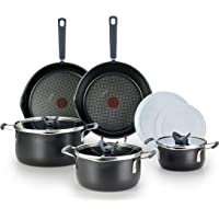 T-fal All-in-One Dishwasher Safe Cookware Set, 10-Piece, Black