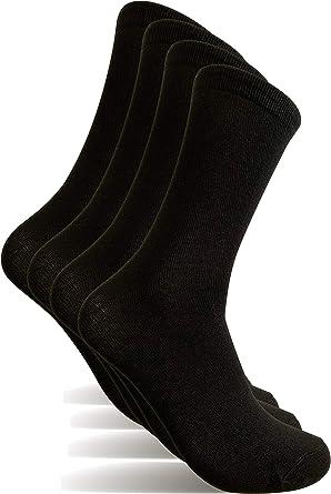 4 Pares Calcetines hombre, Talla 40-46 calcetines de vestir hombre: Amazon.es: Ropa y accesorios