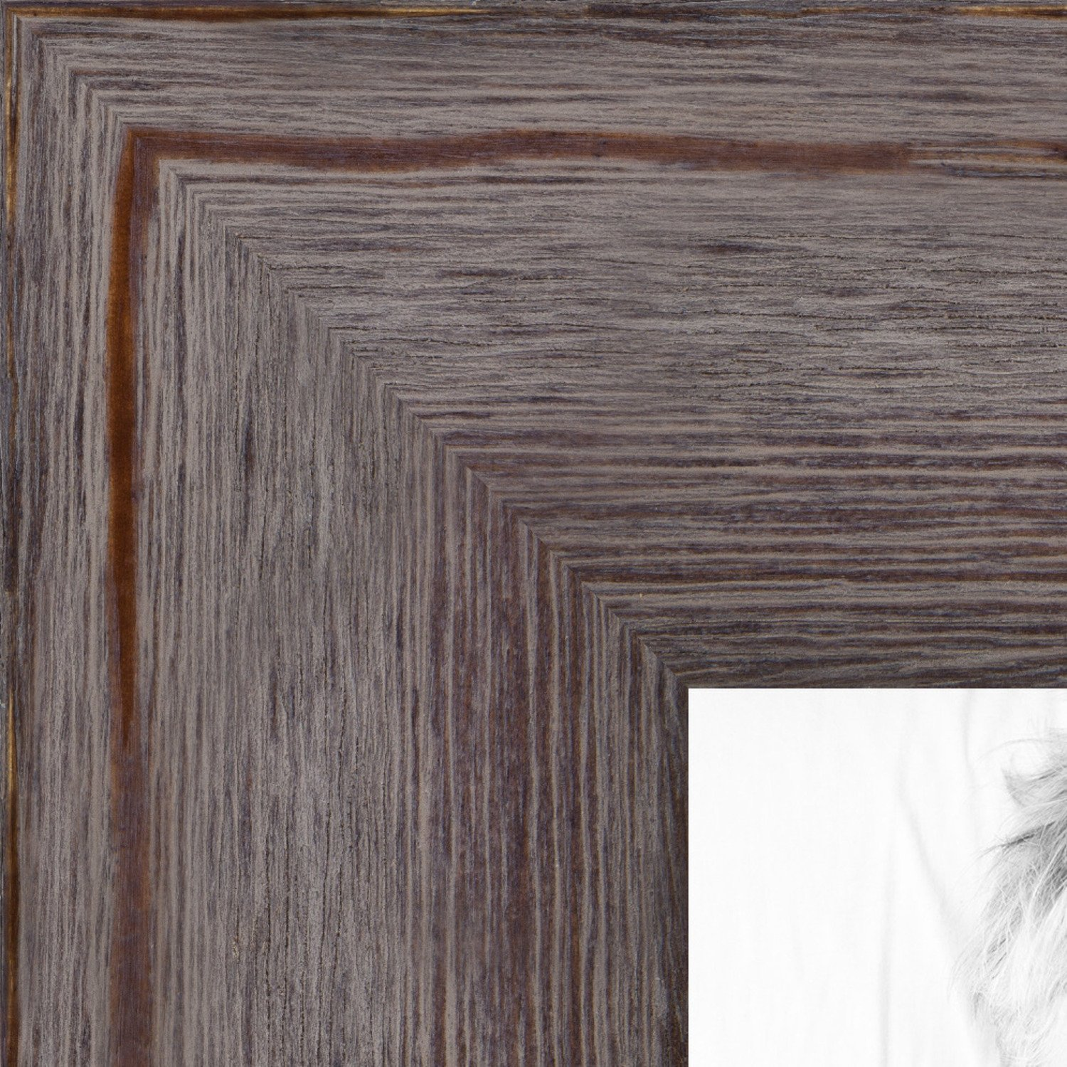 ArtToFrames 8x12 inch Grey - Distressed Wood Wood Picture Frame, WOM82223-101-8x12