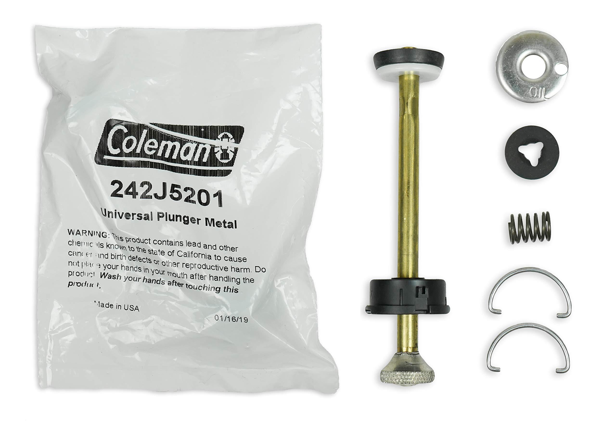 Coleman Universal Plunger Metal Part #: 242J5201 ; 4 Inch Long Plunger Pump Repair Kit ; Compatible Stoves & Lanterns by Coleman