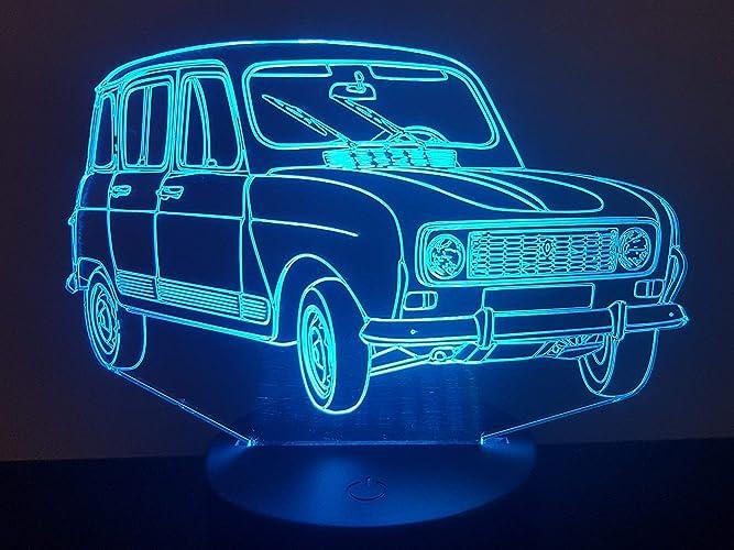 eclairage de plaque pour renault 4 Voiture Renault 4L, lampe 3D à LED
