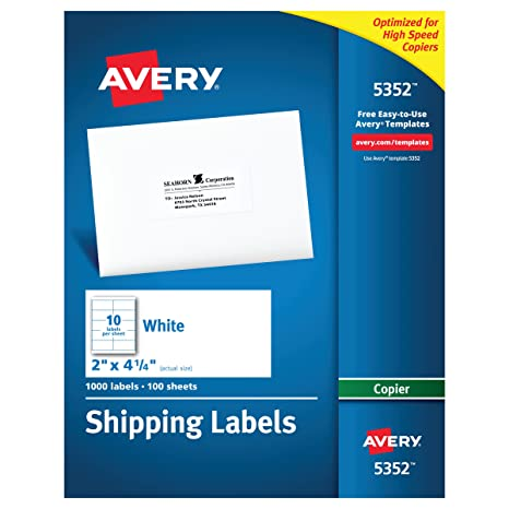 Amazon Avery Address Labels For Copiers 2 X 4 14 Box Of 1