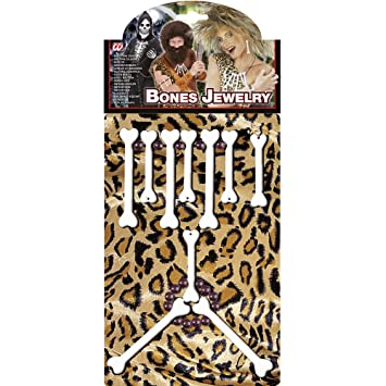 WIDMANN wdm2310p ? Disfraz para adultos set joyas huesos, Multicolor, talla única