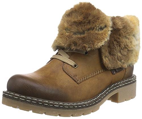 Stiefeletten RIEKER Schwarz gefüttert Wolle Damen Schuhe