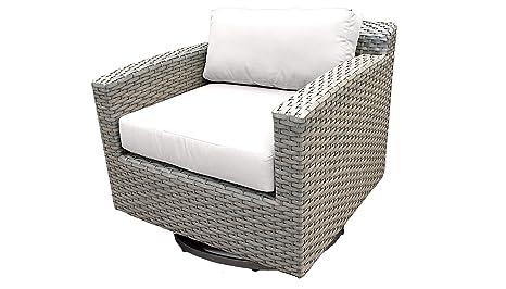 Amazon.com: TKC Florencia Patio mimbre silla giratoria en ...