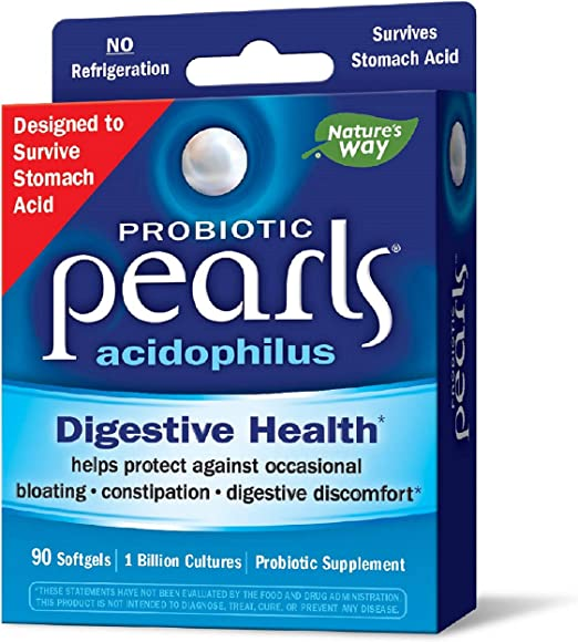 Amazon.com: Probiotic Pearls Acidophilus Once Daily Probiotic Supplement, 1 Billion Live Cultures, Survives Stomach Acid, No Refrigeration, 90 Softgels (Packaging May Vary): Health & Personal Care