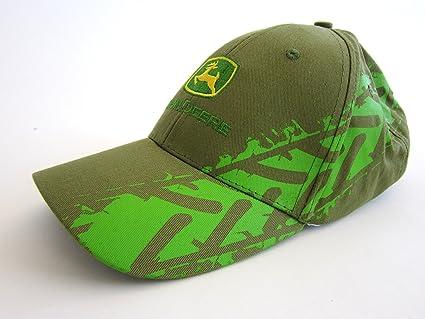 John Deere - Gorra, diseño de huella de neumático, color verde oliva