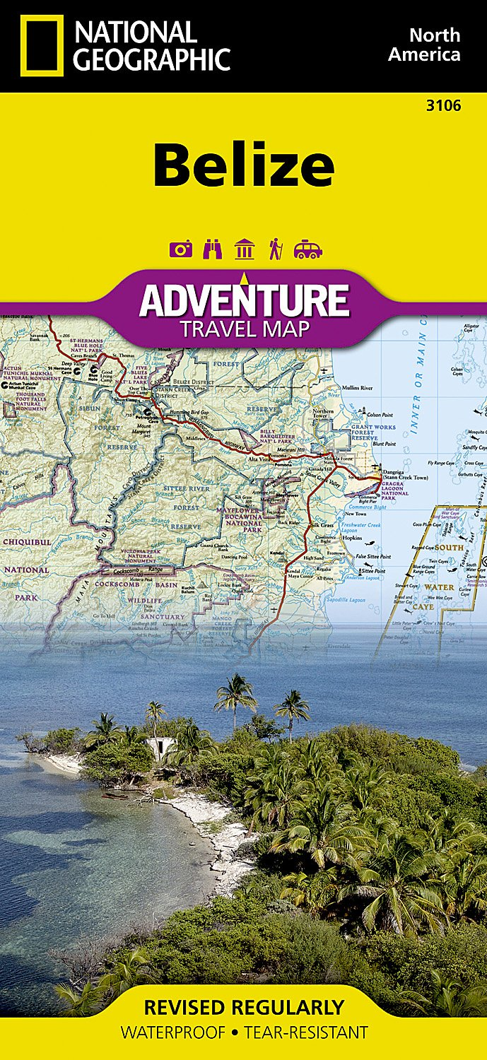 Belize National Geographic Adventure Map National Geographic Maps