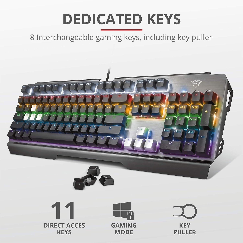 Trust Gaming Gxt 877 Scarr Mechanische Tastatur Qwerty Computer Zubehör