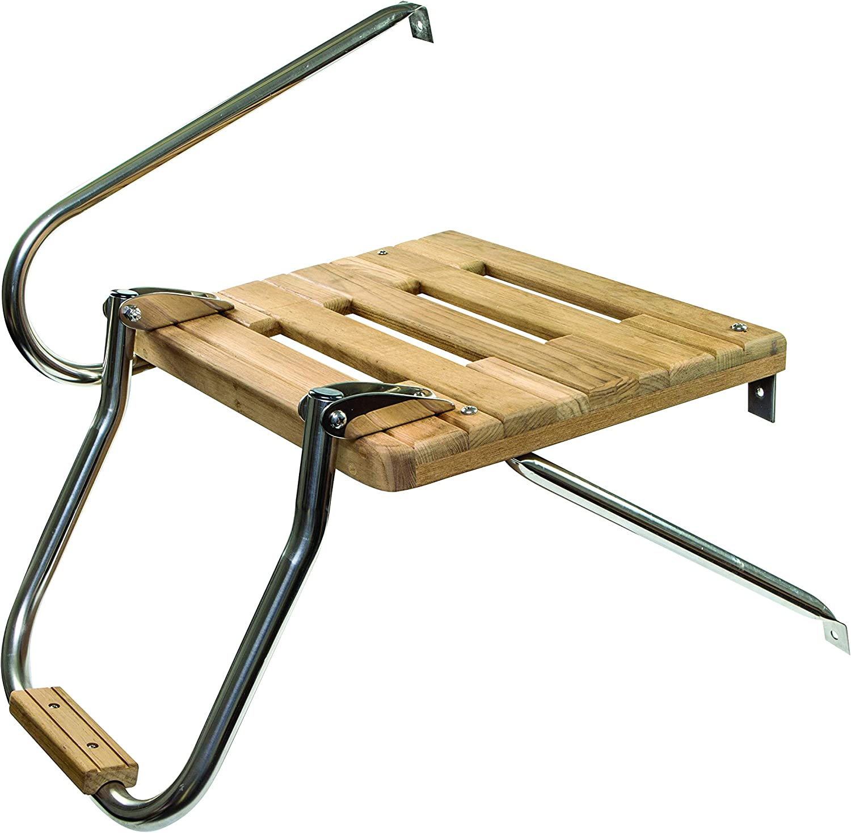 Amarine-made Boat Out-board Swim High Strength Polyethylene Platform with 2-steps Ladder