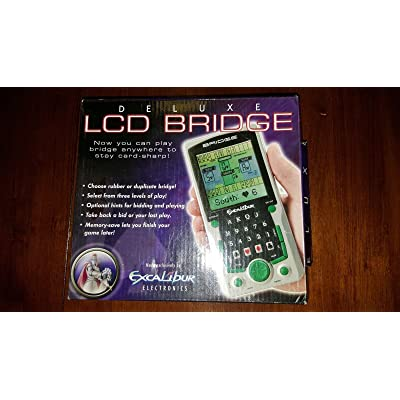 Excalibur LCD Bridge Handheld Bridge Deluxe with Large LCD Screen: Toys & Games
