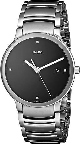 Amazon Com Rado Men S R30927713 Centrix Jubile Black Dial Watch Rado Watches