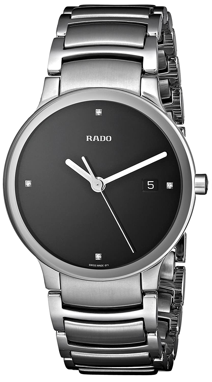 a7d6b9937 Amazon.com: Rado Men's R30927713 Centrix Jubile Black Dial Watch: Rado:  Watches