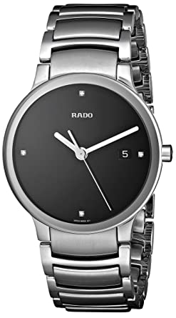 551d84857b Image Unavailable. Image not available for. Color: Rado Men's R30927713  Centrix Jubile Black Dial Watch