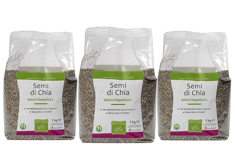 Semillas de Chia - Envasado en atmósfera protectora - Multipack: 3 ...