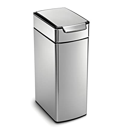 Merveilleux Simplehuman 40 Liter / 10.6 Gallon Stainless Steel Slim Touch Bar Kitchen  Trash Can,