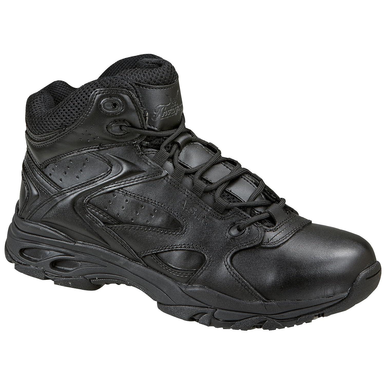 メンズThorogoodスリップ – 耐性Mid Uniform Bootsブラック B007KJAAJU 9.5 D(M) US|ブラック ブラック 9.5 D(M) US