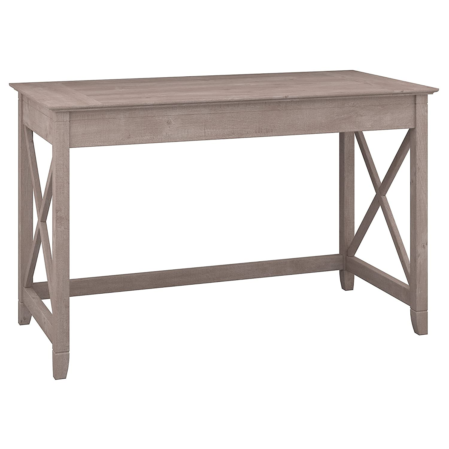 Bush Furniture Key West Collection 48W Writing Desk in Washed Gray