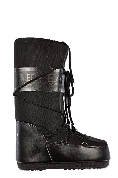 a8213745a4f Emporio Armani EA7 Bottes de Neige Ski Femme Original Noir  Amazon ...