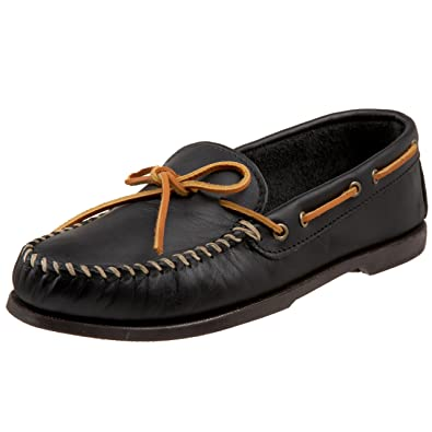 Mens Casual Shoes Minnetonka Mens Leather Camp Moccasins Casual Shoes Under Discount