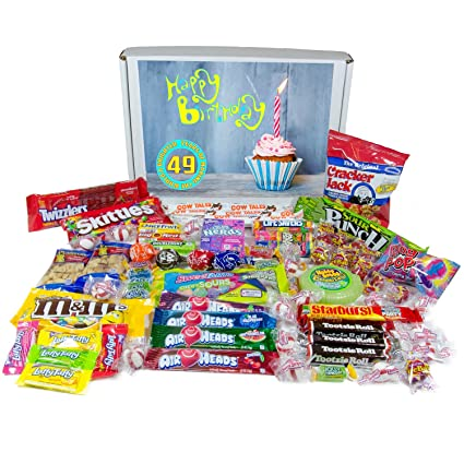 Un muy dulce Happy 49th regalo de cumpleaños – Candy Giftset ...