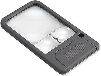 Carson Taschenlupe mit LED-Beleuchtung in der Vergrößerung 2,5x/4,5x/6x