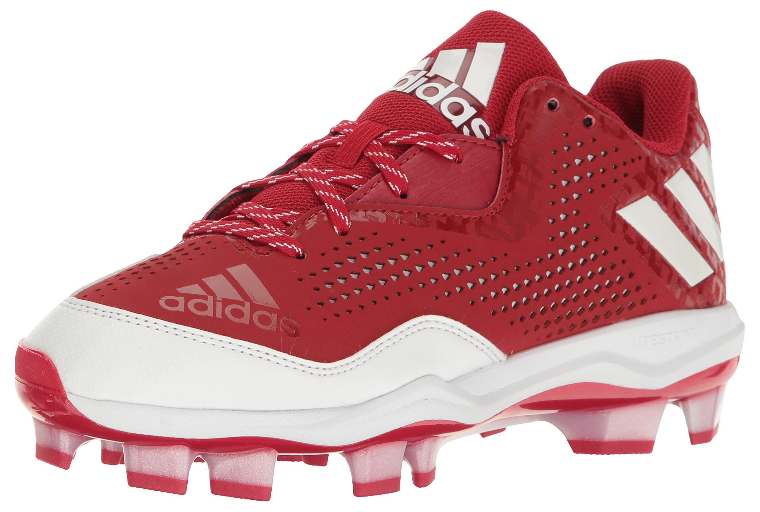 adidas Women's PowerAlley 4 W TPU Baseball Shoe, Power Red/White/White, 11 M US